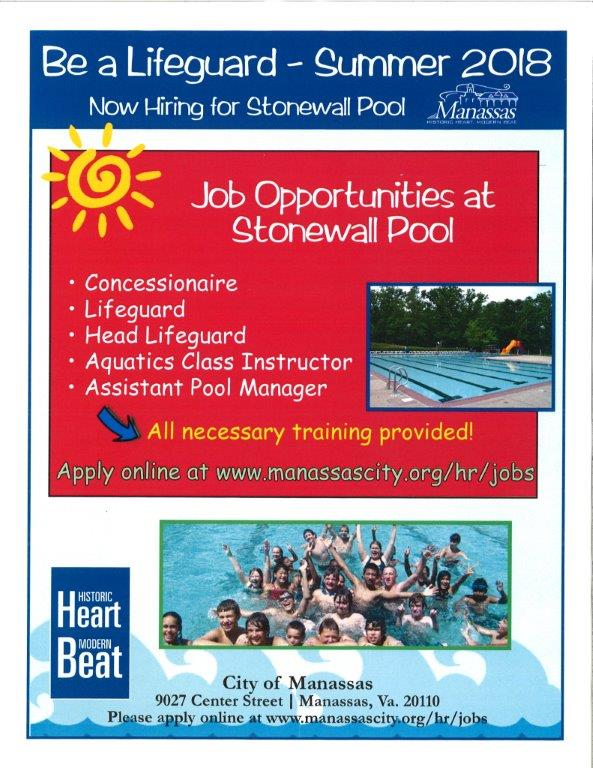 Job Opportunities at Stonewall Pool — First Baptist Church