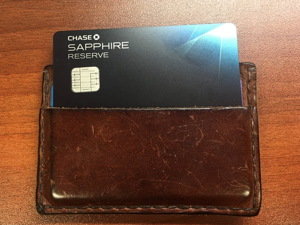 My Chase Sapphire Reserve, this year's hottest card