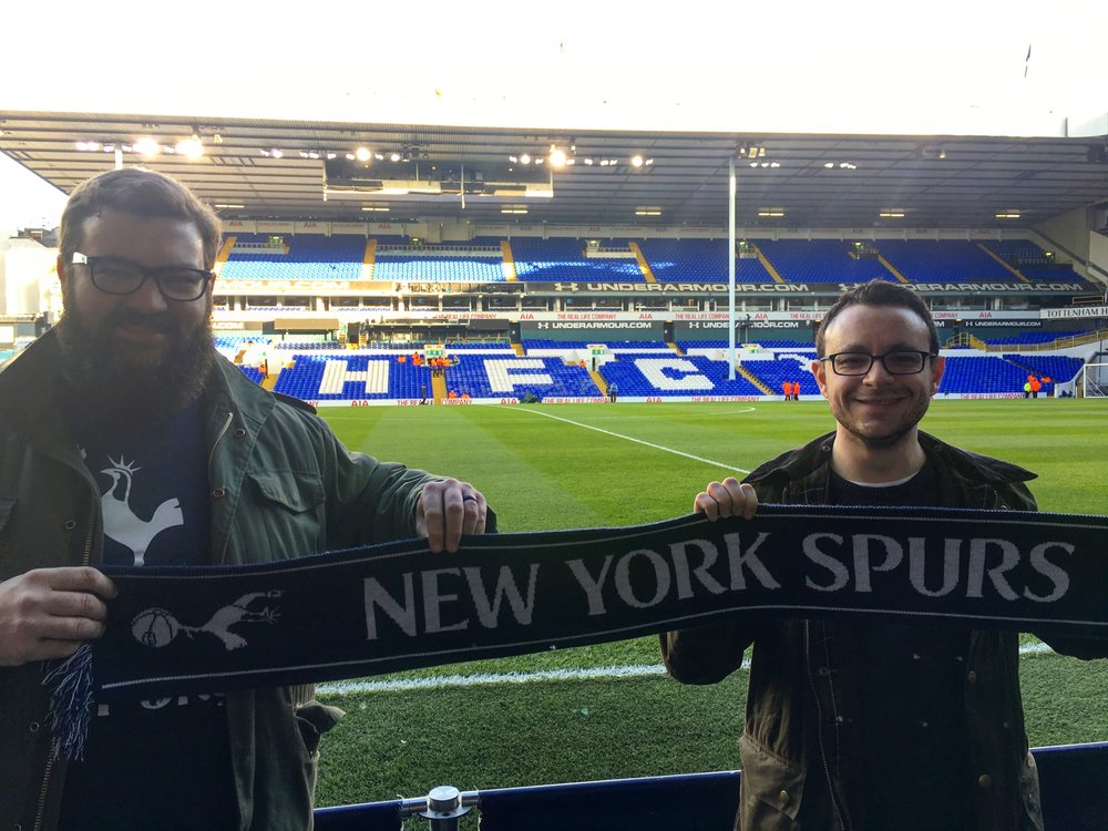 The main event: a stadium tour and Spurs match at White Hart Lane. #COYS