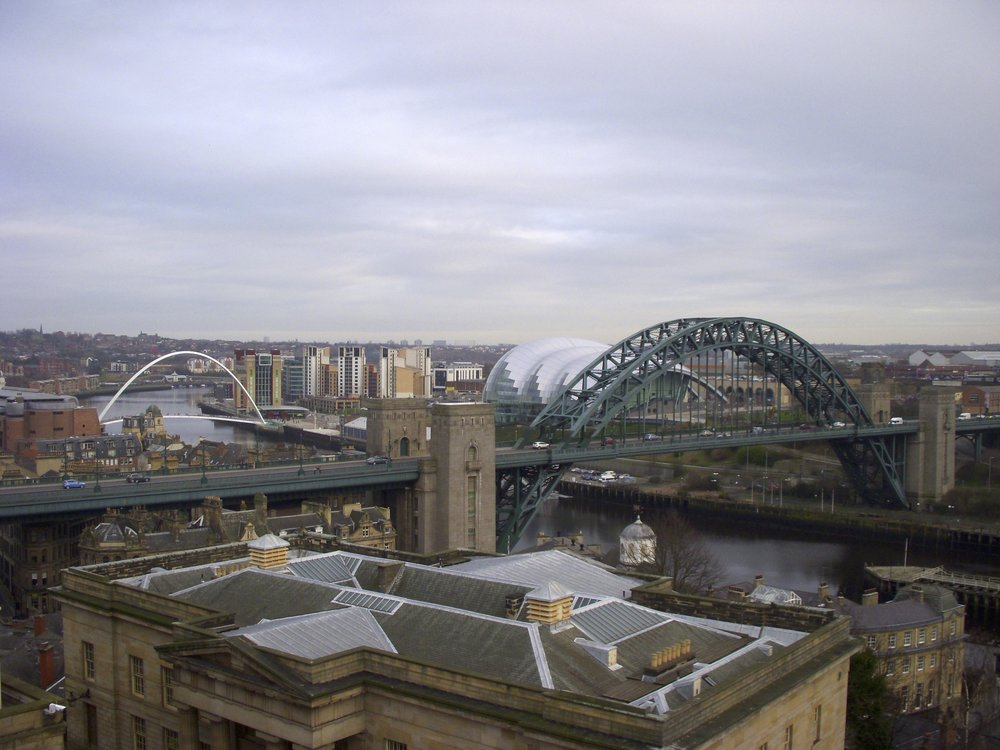 View from the top of The Castle in Newcastle
