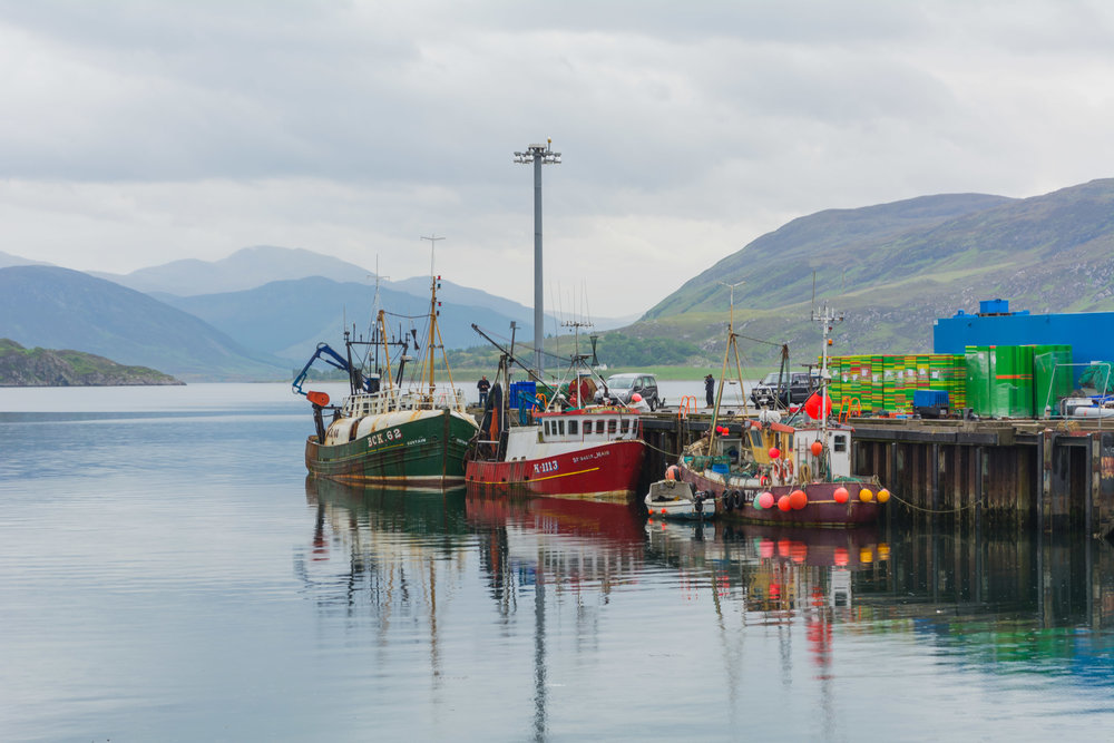 The town of Ullapool in the Scottish Highlands
