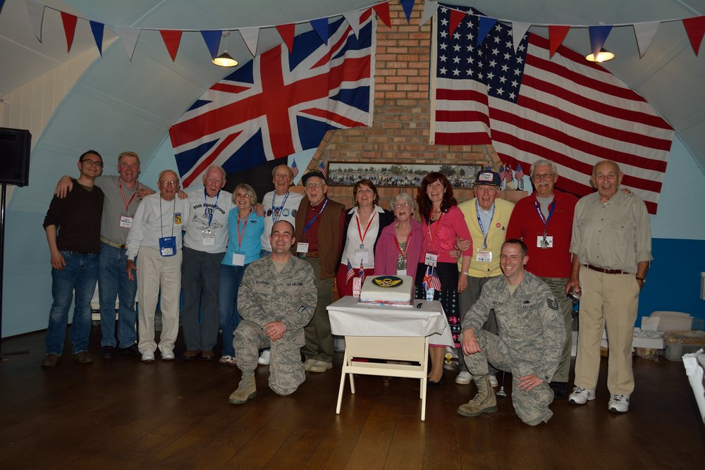 With veterans and the descendants of Horham, England residents and  95th Bomb Group  airmen.