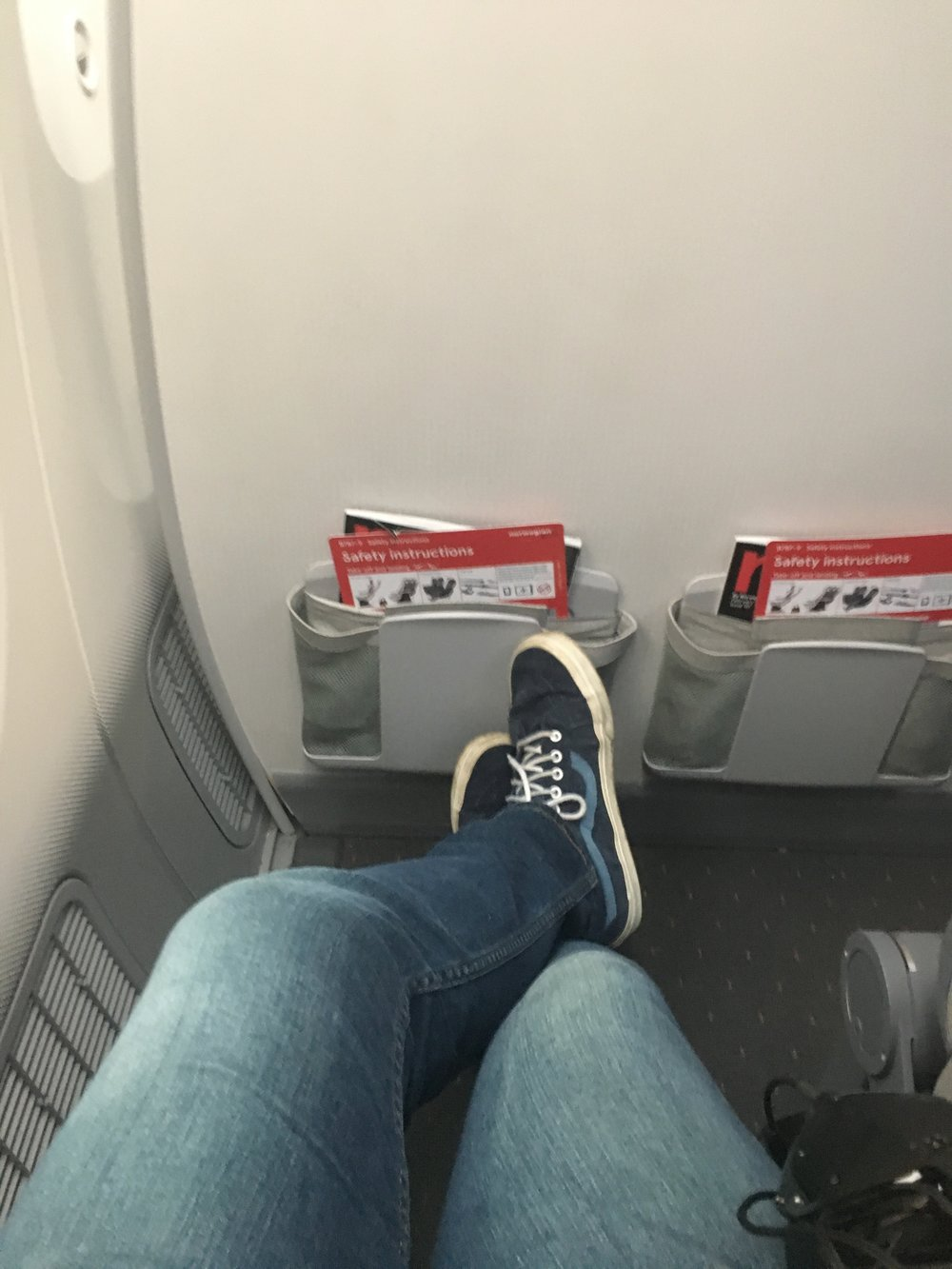 Spoiled by bulkhead legroom