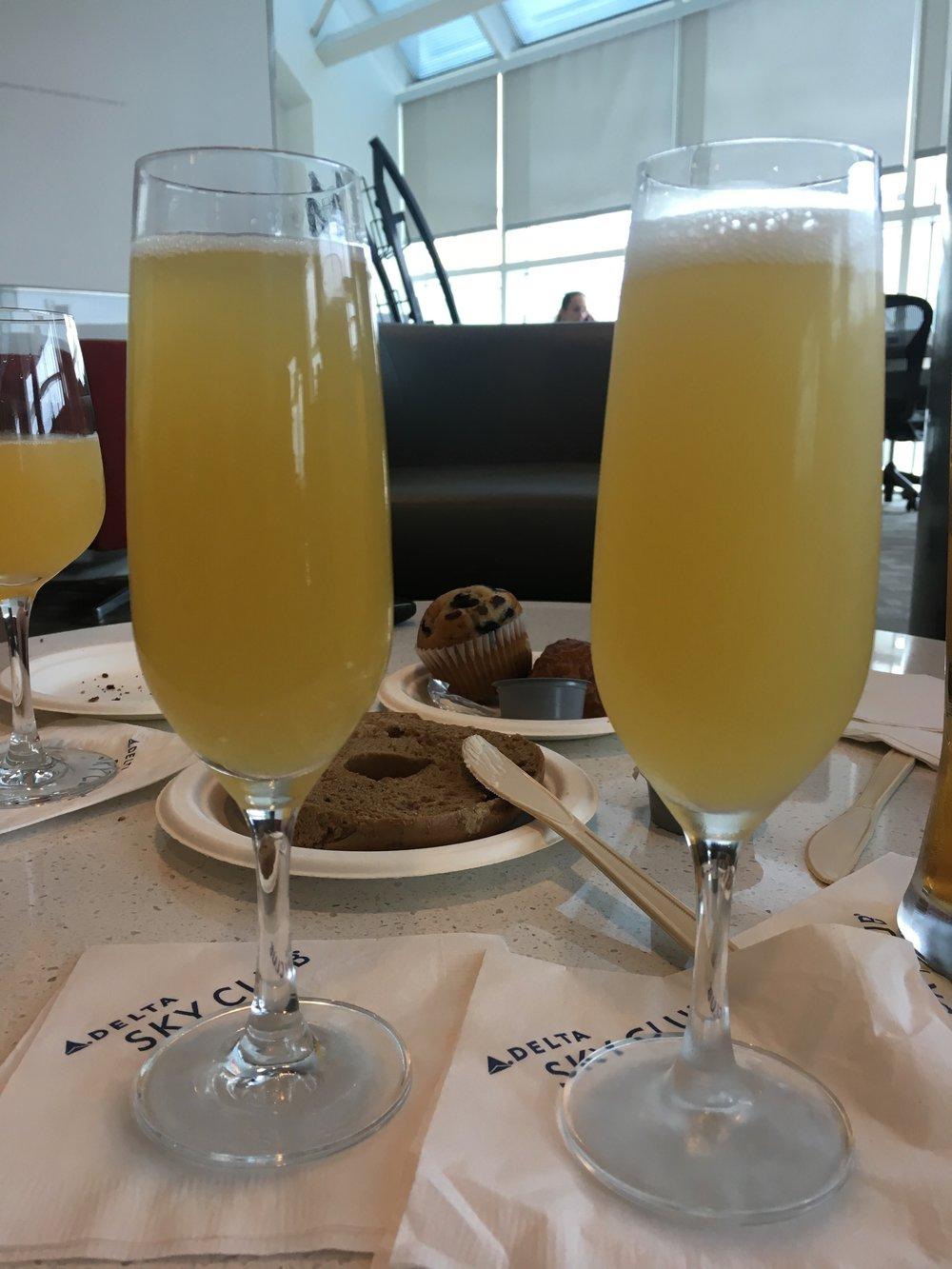 Sky Club mimosas