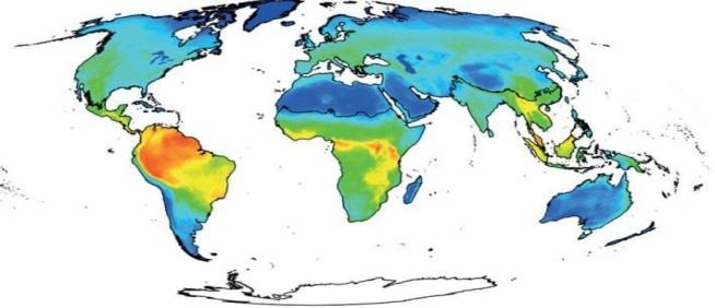 Mammalian Diversity Map: C. Rondinini et al. Phil. Trans. Roy. Soc B. 2012