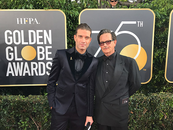 Omar Sharif Jr. and Keith Kurman at the 75th Annual Golden Globe Awards