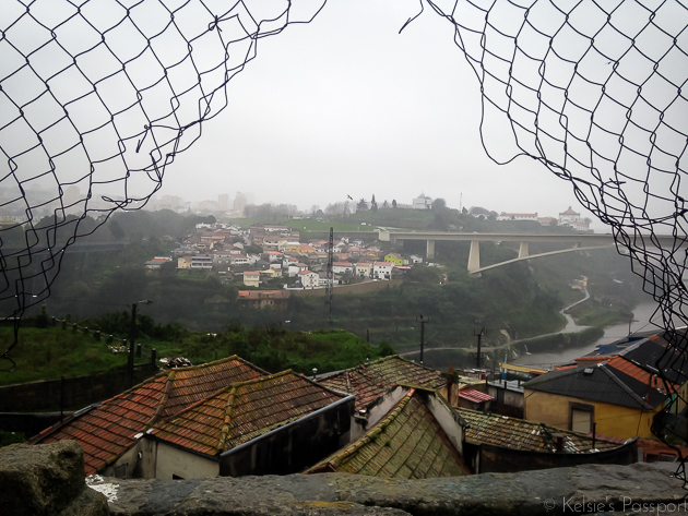 A view of Porto in the rain