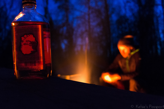 Nik never goes camping without Fireball. It actually warms your guts so you could argue that it's part of the First Aid Kit.