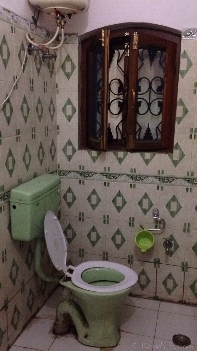 A pretty decent bathroom in my experience in India.