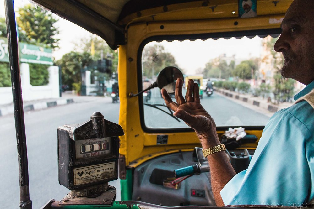 A tuktuk driver explaining something (probably something very important) to me.