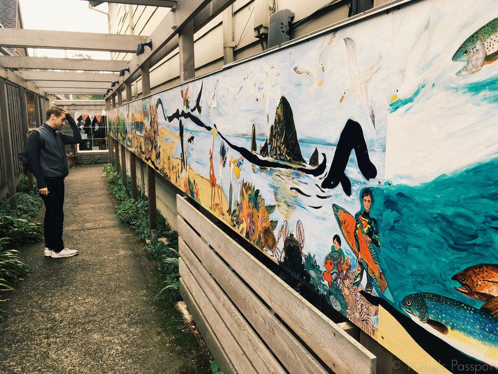 A mural in Canon Beach