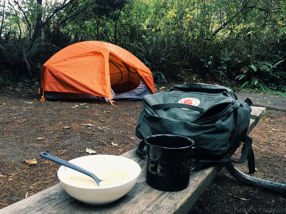 Camping breakfast of champions