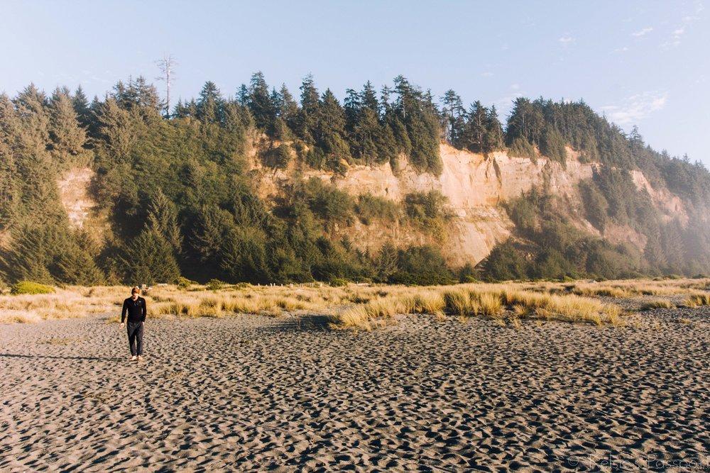 The backyard cliff.