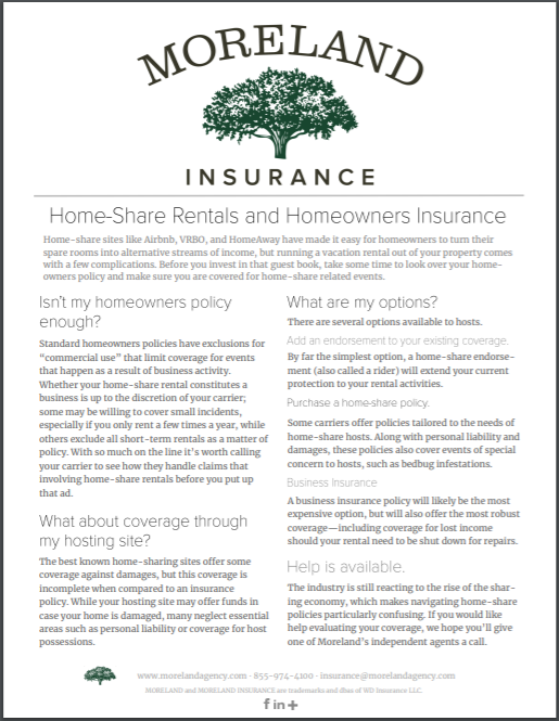 Home-Share Rentals and Homeowners Insurance -