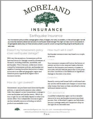 Earthquake Insurance -