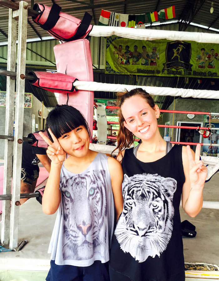 Muay Thai class with Min.