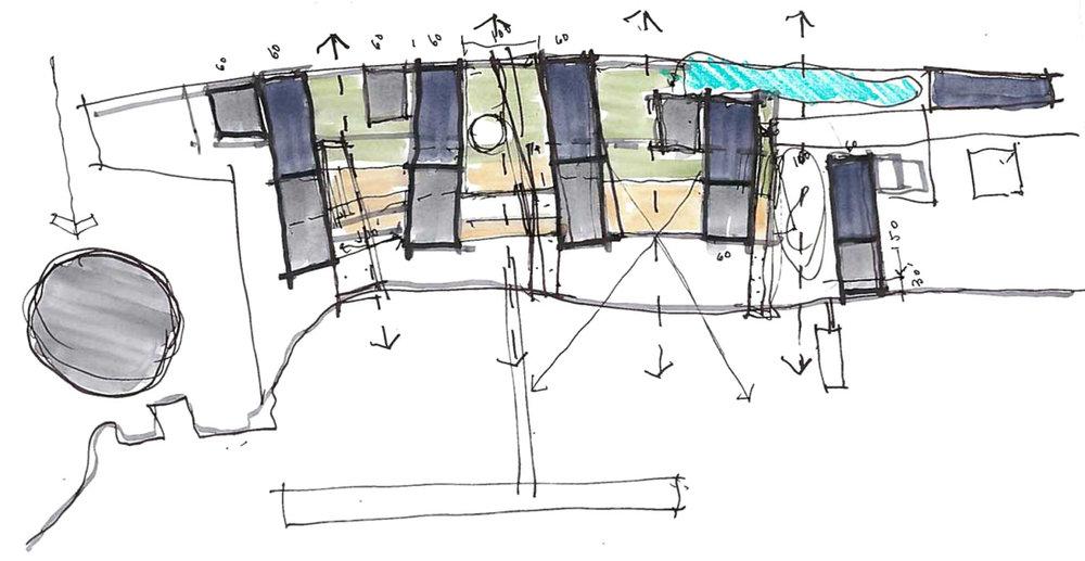 Architectural sketch. Newburgh Development. Think! Architecture & Design