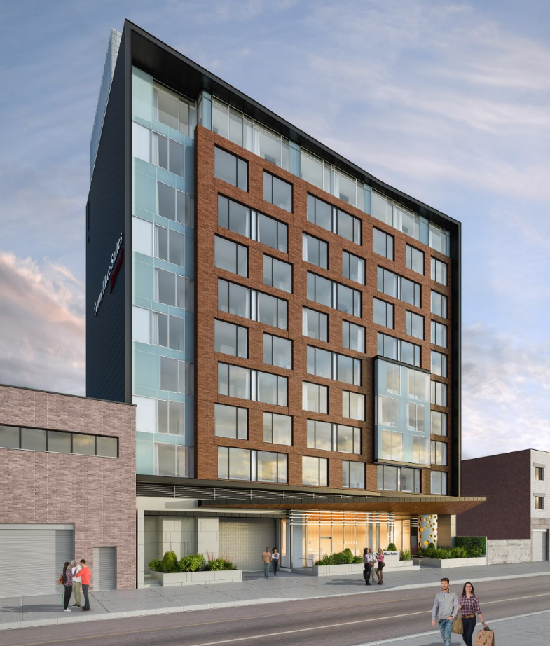 Queens.Long Island City. new hotel construction. hotel. building. Think architecture & design