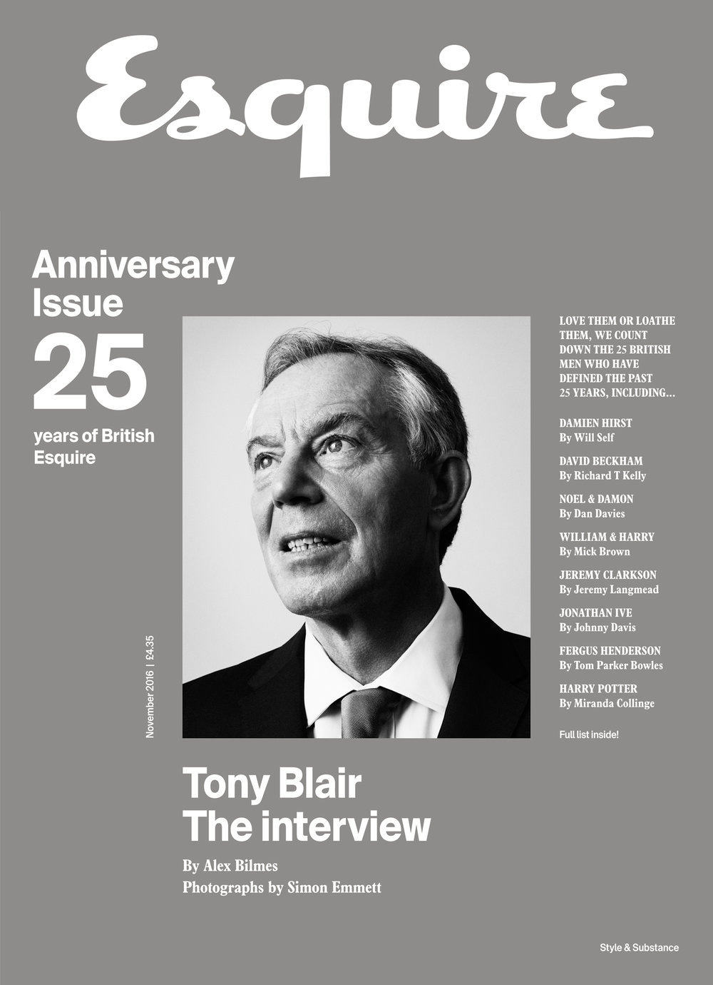 Tony Blair Newsstand edition
