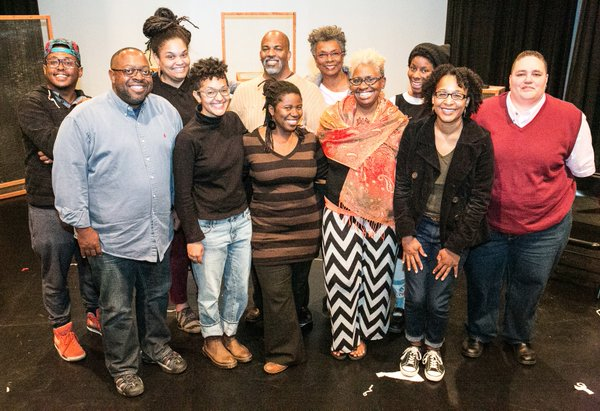 2015 Emerging Writers Fellows (left to right) and mentor