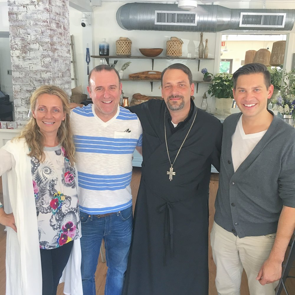Sofia Crokos (Owner), Chris Boubouris (Owner), Unknown (Blessing Restaurant), Hank Stampfl