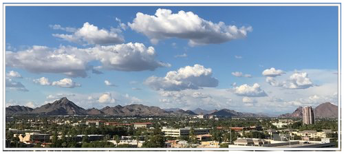 - Another beautiful day in Phoenix... looking North from our 9th floor penthouse office.