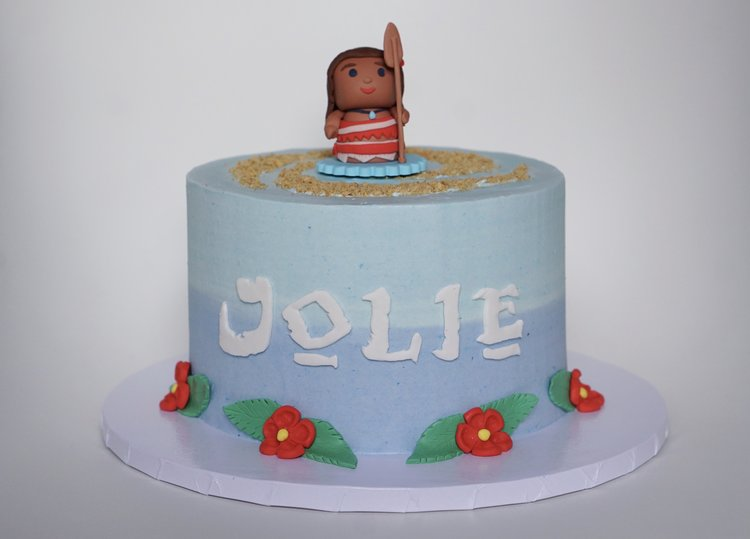 Moana Themed Birthday Cake Sugarbear Bakes