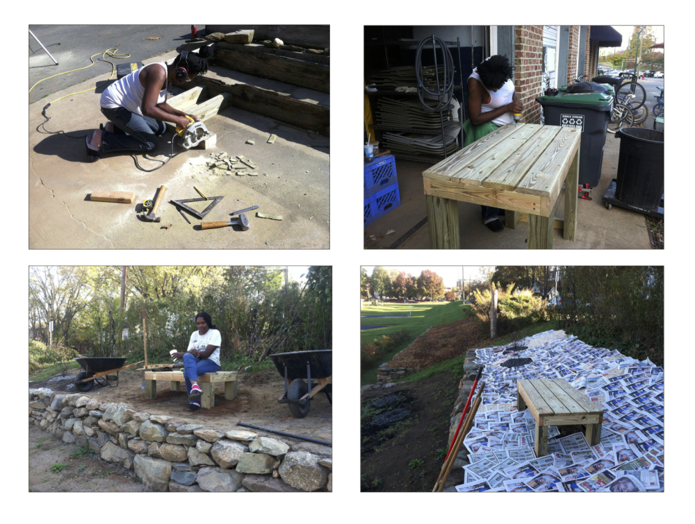 The bench was a fun capstone project for the orchard, as was sheet mulching with C-ville Weeklys.