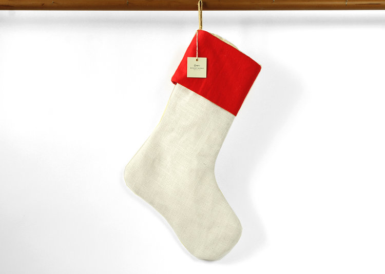 white burlap whitejpg - Burlap Christmas Decorations Wholesale