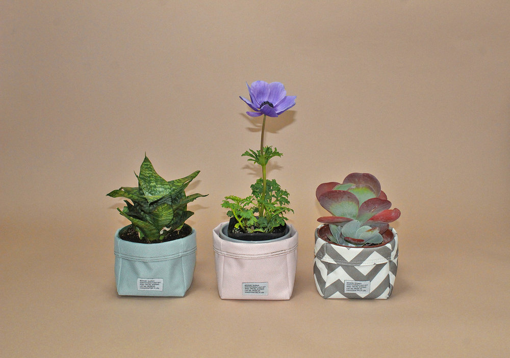 Nylon Fabric Baskets - REVERSIBLE NYLON WATER RESISTANT! STORAGE BIN, PLANT POT COVER, BATHROOM STORAGE. MADE IN USA.