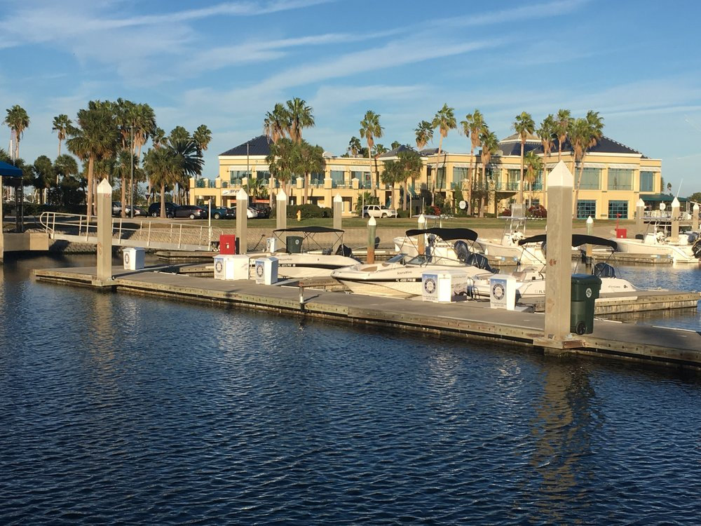 Boatside view of Marina View Events & Restaurant.