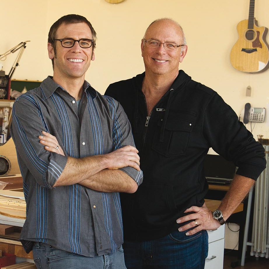 Taylor Guitars' Master Luthier Andy Powers (left), VIGF Luthier Conference Keynote Address