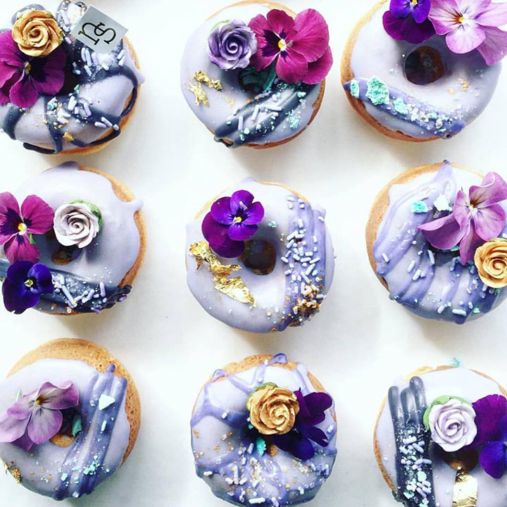 Forget the cake cutting! Serve your wedding guests these individual desserts, instead! Designer donuts by  Nectar and Stone .