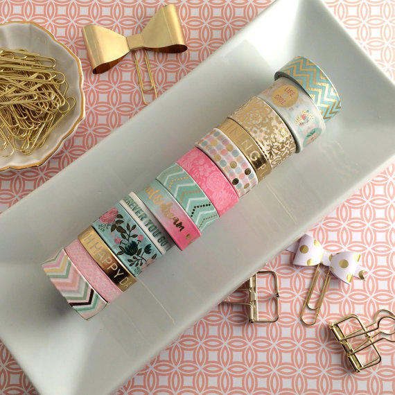 Washi Tape adds color & texture to your bullet journal. Washi Tape by  InspiredPeach.