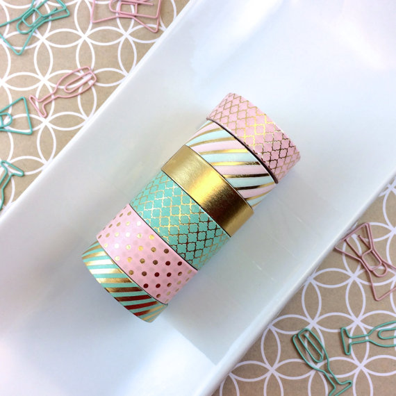 BULLET JOURNAL ESSENTIALS: WASHI TAPE. This brand is  Inspired Peach