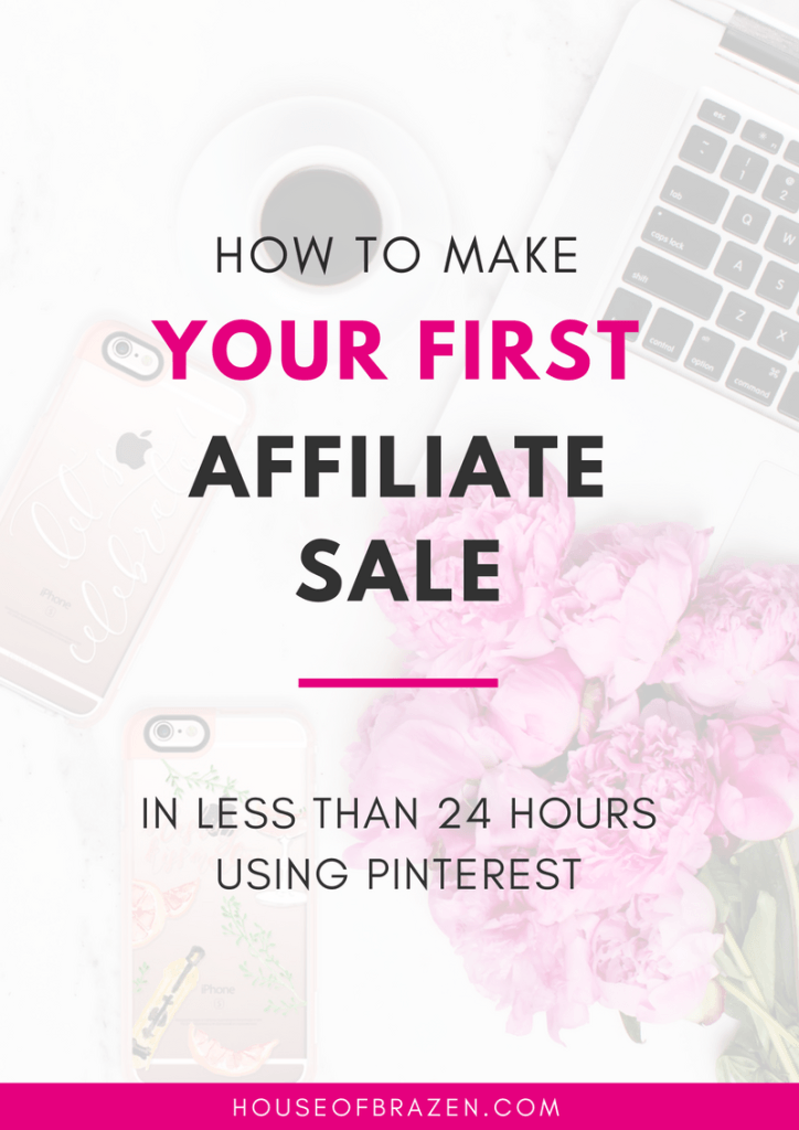 """When I was at the peak of my frustration and just about ready to give up on my blog, I came across a pin stating, """"How To Make Your First Affiliate Sale in 24 Hours Using Pinterest."""" Less than 24 hours? Really? How could it be possible to make a sale in a matter of hourswhen I had been trying to do just that for months? I had to know what piece of the puzzle I was missing."""