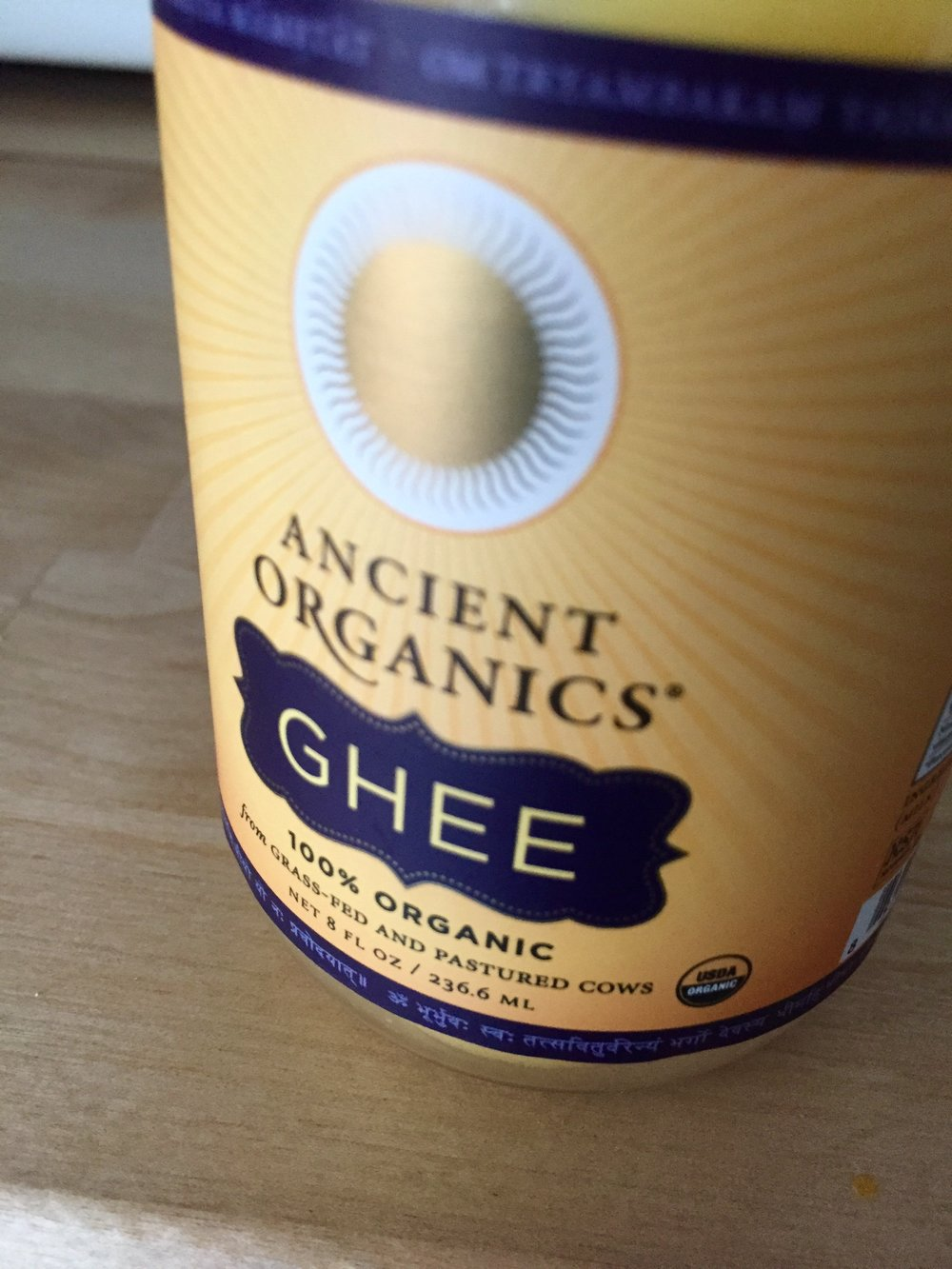 Ancient Organics Ghee, $11.95 on Amazon