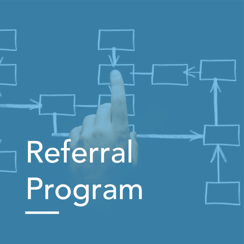 Referral Program Workflow    Read our Referral Marketing eBook Here