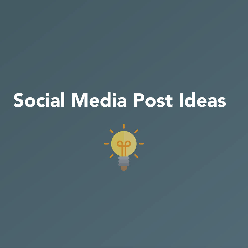 Social Media Posting Ideas     Infographic