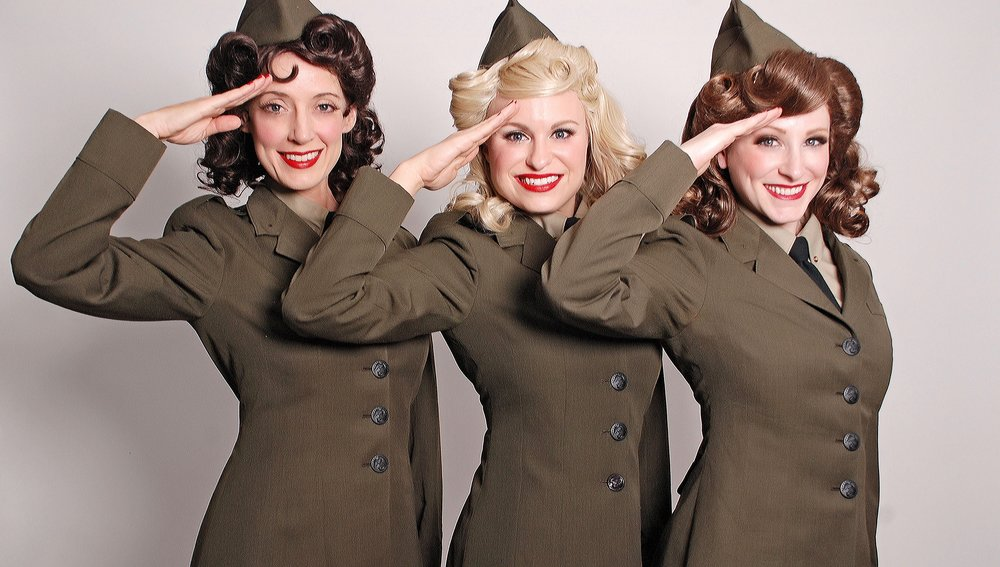 The Swing Dolls Vintage Army Andrews Sisters Tribute
