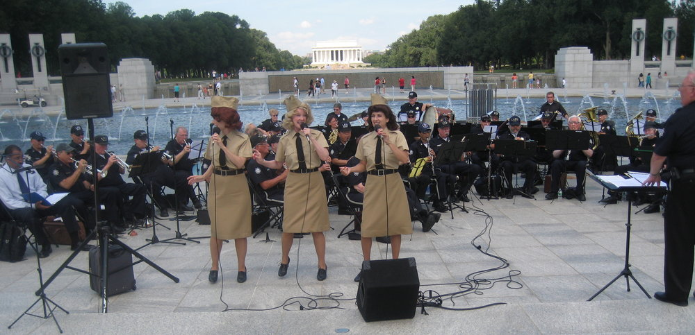 With the Los Angeles Police Band at the National WWII Memorial
