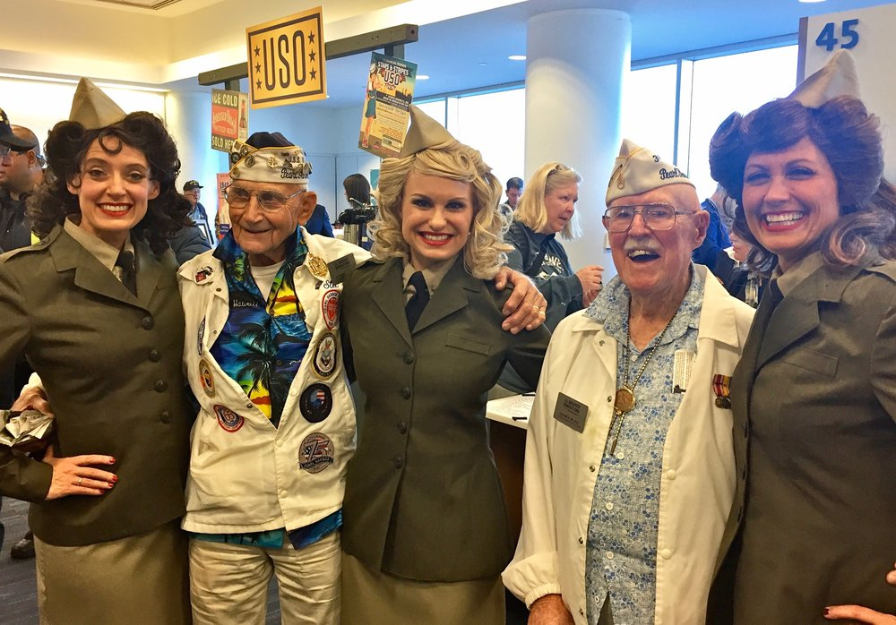 American Airlines Honor Flight sponsored by the Gary Sinise Foundation