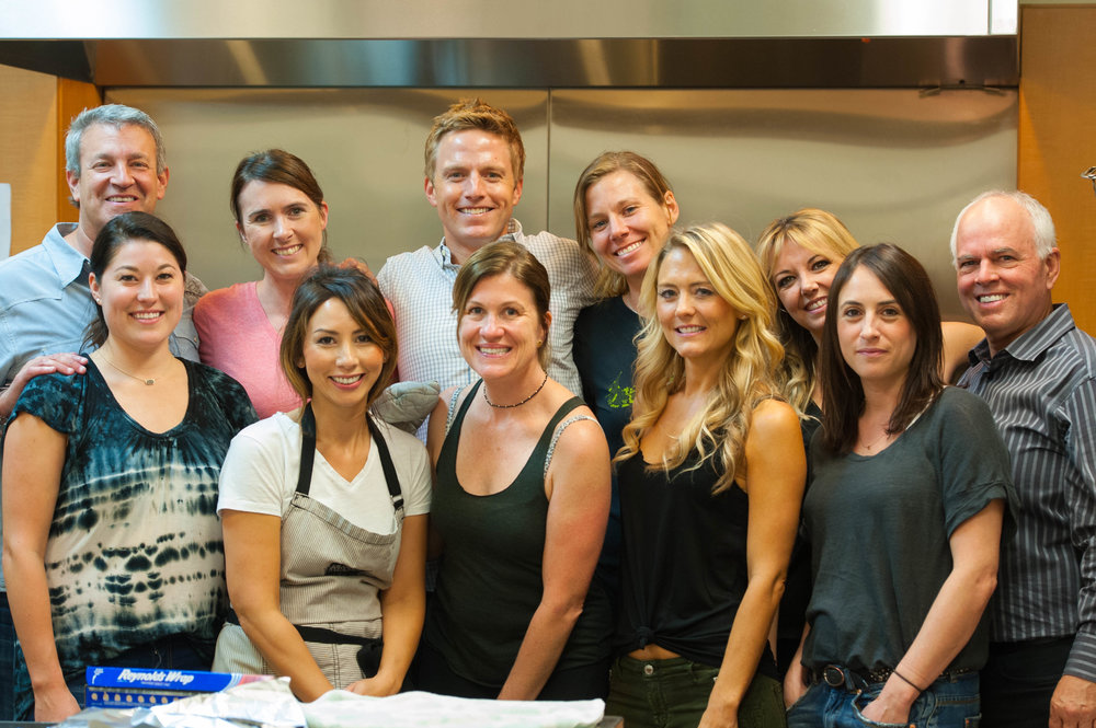This was the wonderful group of Santa Monica NOW volunteers who helped me cook at the OPCC center.