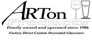 OFFICIAL GLASSWARE SPONSOR - Custom decorated stemware & glassware for all your favorite beverages!