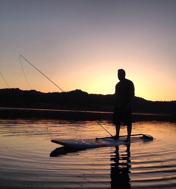 Paddle Boarder / Fisherman: Yves Martineau aka Ti-no Photo: Bruno Poulin