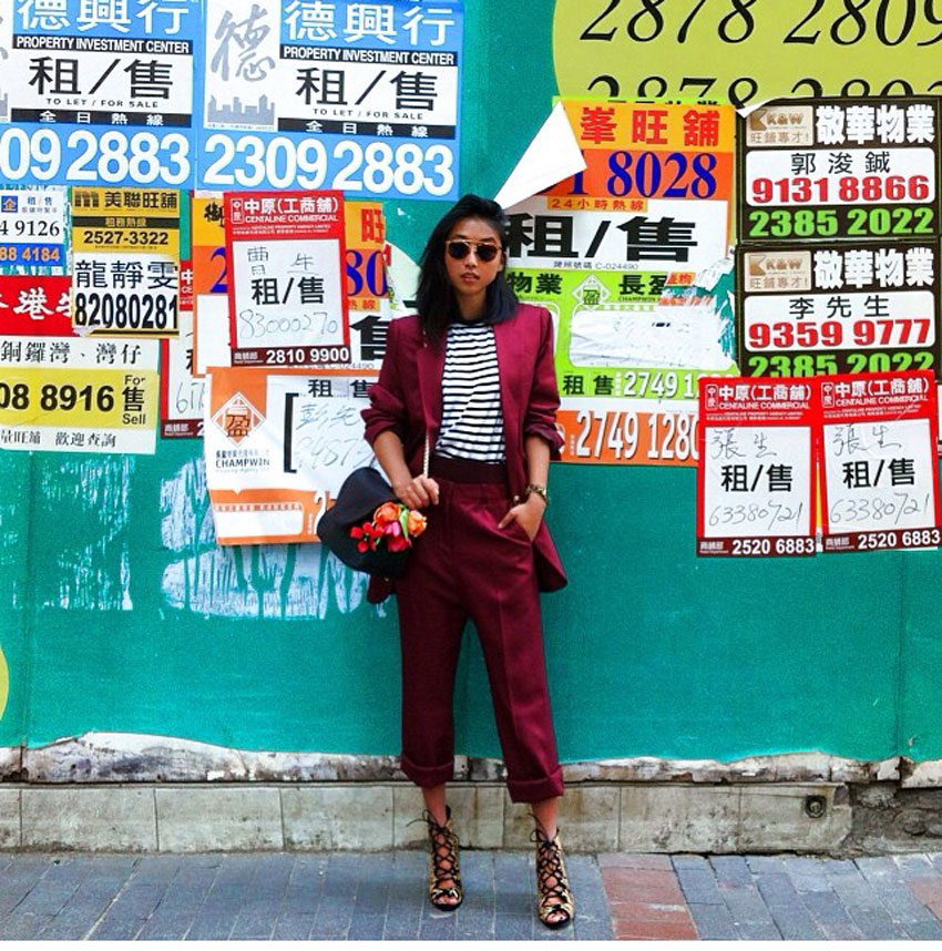 "Margaret Zhang from Shine By Three wearing ""Click Click"" in Hong Kong"