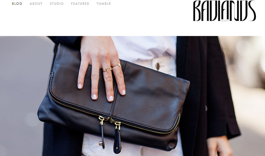 Home page of Vogue's Spy Style blogger Badlands Blog featuring 'Tribal Dancing'