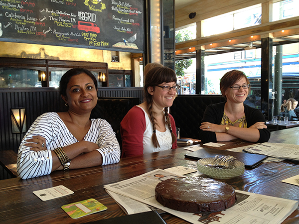Nabeetha, Arian and Julia at a Haight-Ashbury establishment