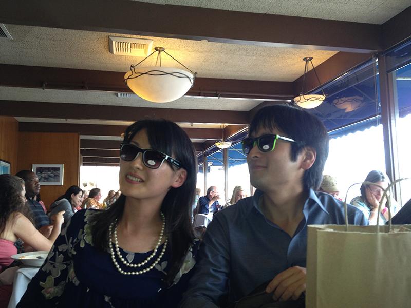 Shoko and Taka modeling some new shades