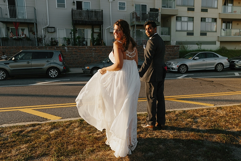 Intimate Rockaway New York Beach Wedding